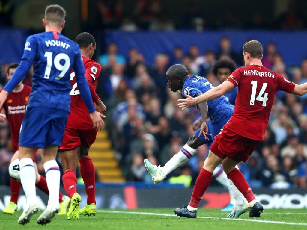 Kante in Liverpool vs Chelsea