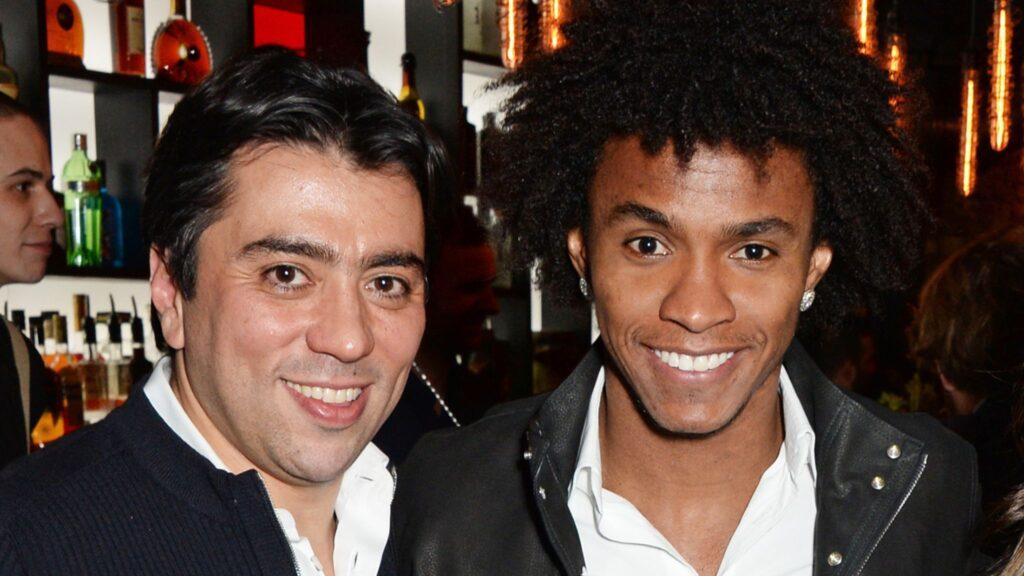 Willian with his agent Kia